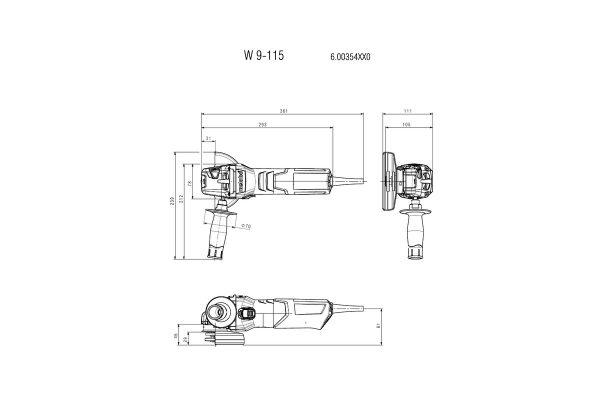 3t tecnologie; 3t shop; smerigliatrice Metabo; smerigliatrice angolare; 3t tecnologie Metabo;W9-115;