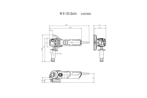 3t tecnologie; 3t shop; smerigliatrice Metabo; smerigliatrice angolare; 3t tecnologie Metabo;W9-125;