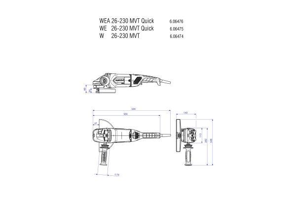 3t tecnologie; 3t shop; smerigliatrice Metabo; smerigliatrice angolare; 3t tecnologie Metabo;WE26-230;