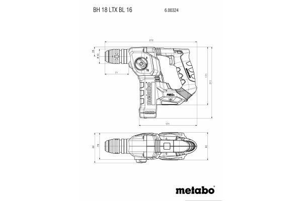 3t tecnologie;3t shop;tassellatori Metabo;tassellatori batteria;perforatore batteria;martello batteria;bh18 ltx;
