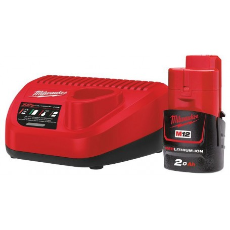 milwaukee;batterie;batteria Milwaukee;set batterie milwaukee;3tshop;3t tecnologie;M12 NRG-201;4933451900