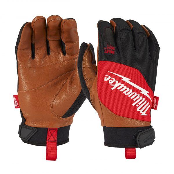 guanto pelle;guanto milwaukee;milwaukee leather gloves;4932471913;4932471914;milwaukee;3tshop;3ttecnologie;Hybrid Milwaukee;